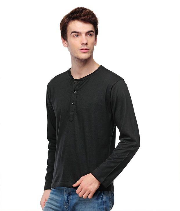 TSX Black Henley T Shirt