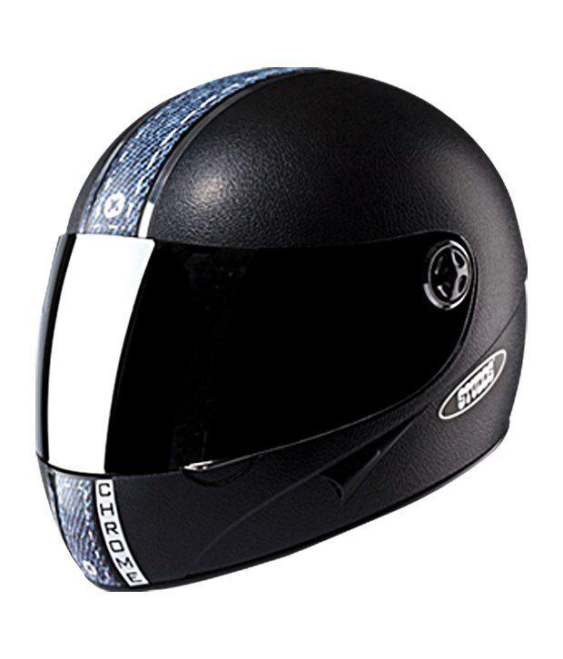 5b7d1785 Studds - Full Face Helmet - Chrome with Mirror Visor (Black Denim): Buy  Studds - Full Face Helmet - Chrome with Mirror Visor (Black Denim) Online  at Low ...
