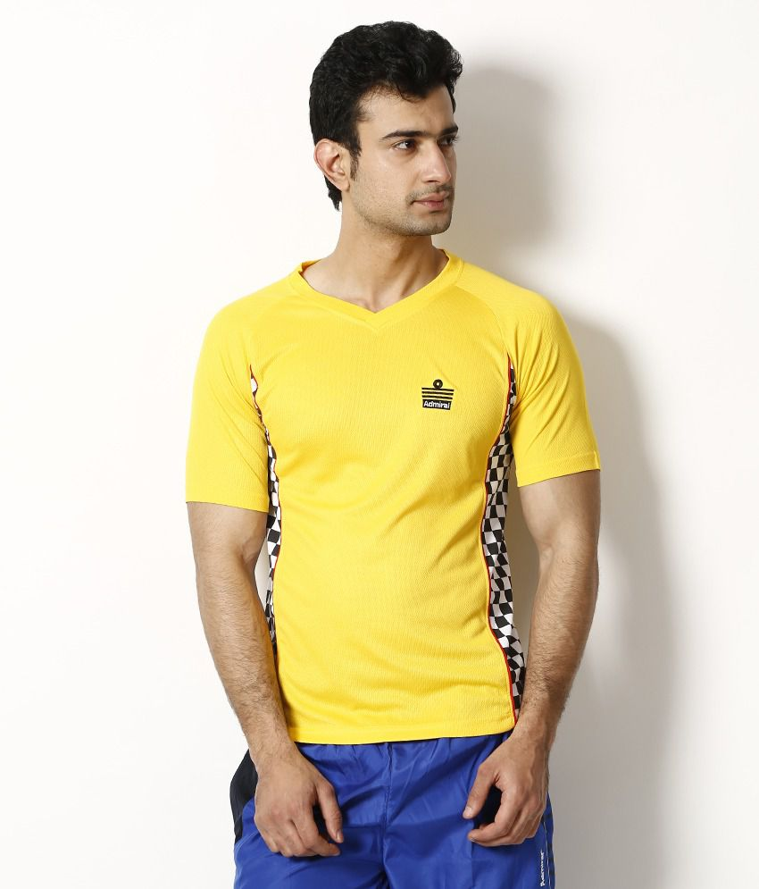 Admiral Yellow V-Neck Basics T Shirt