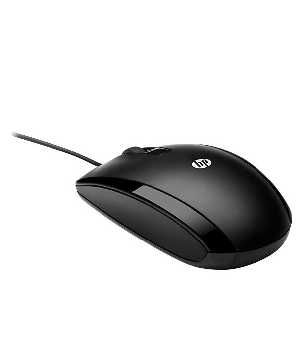 HP X500 Wired Optical Mouse  (USB 2.0, Black)