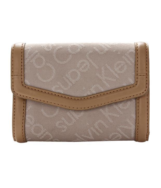 Calvin Klein Beige & Brown Wallet