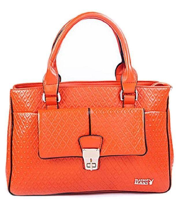 Play Boy Orange Handbags