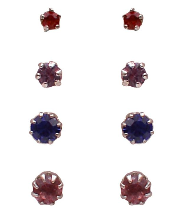 Trendy Baubles Colourful Studs Combo