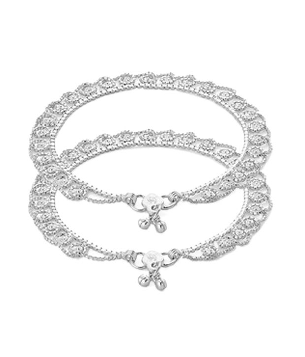 Voylla Silver Plated Anklets With Enticing Design