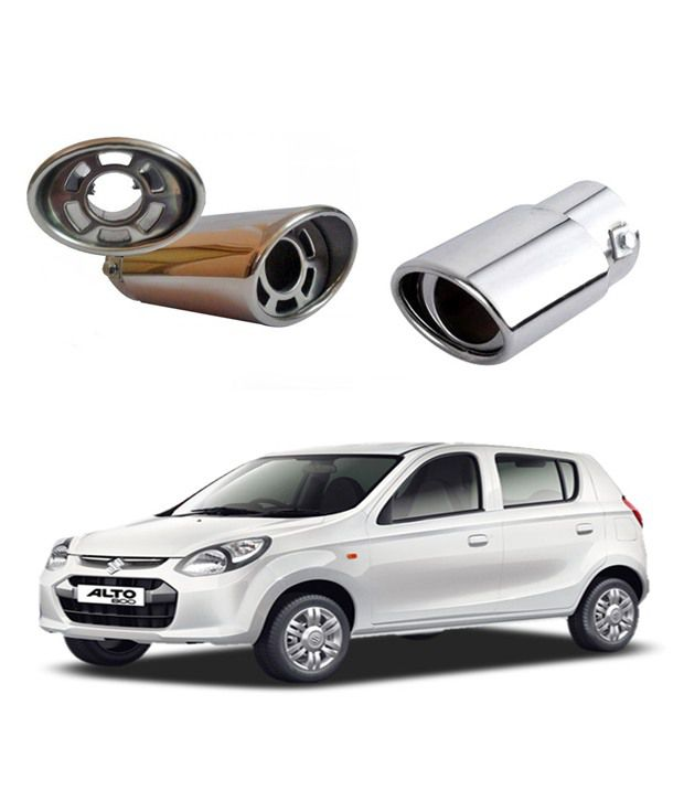 Shopper S Hub Car Oval Exhaust Muffler Tip Pipe Maruti Alto