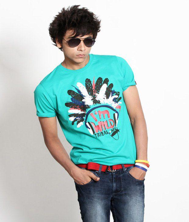 Probase Stylish Green T Shirt