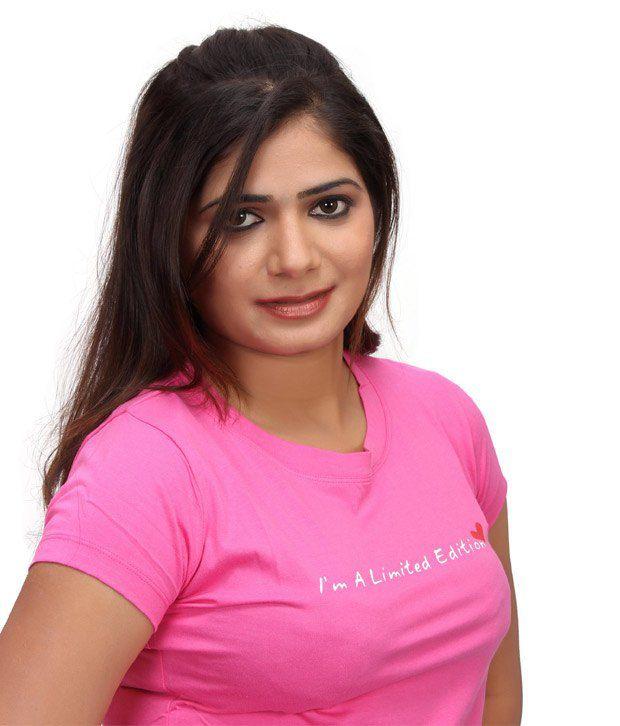 d58b8e93d92 Buy Textile India Fashion Vogue Juliet Ladies T-Shirt Pink Online at ...