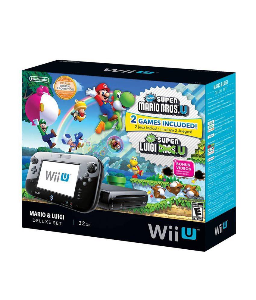 Nintendo Wii U - Mario and Luigi Deluxe Edition (NTSC) Black