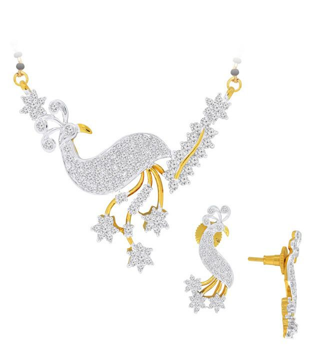 Spargz Art India Designer Peacock CZ Mangalsutra Set