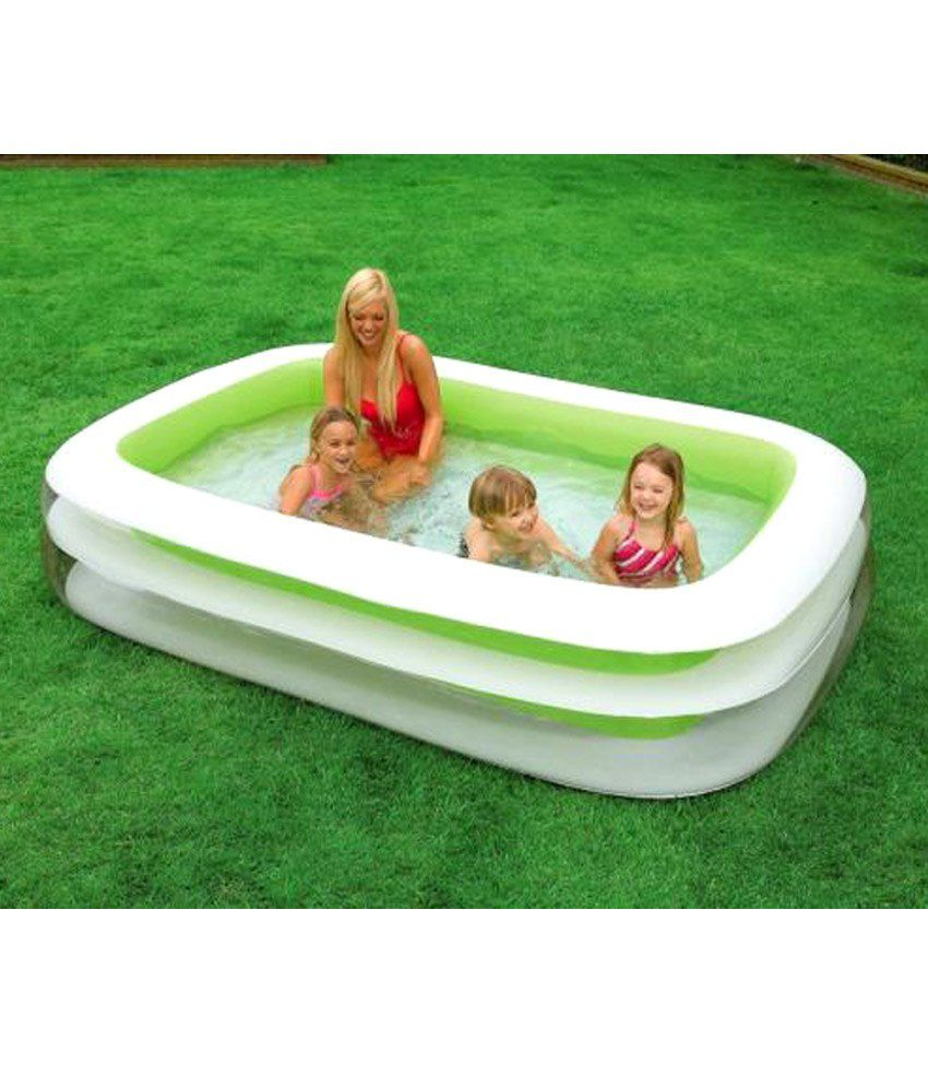 intex swim center family green pool buy intex swim center family green pool online at low. Black Bedroom Furniture Sets. Home Design Ideas