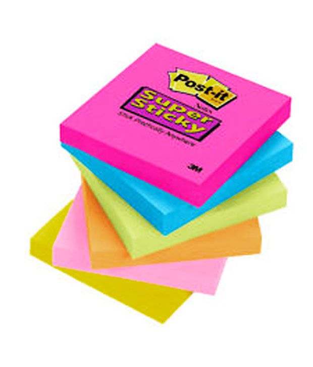 3M Post-it Super Sticky Notes (Assorted colors) - Pack of 3: Buy Online at Best Price in India ...