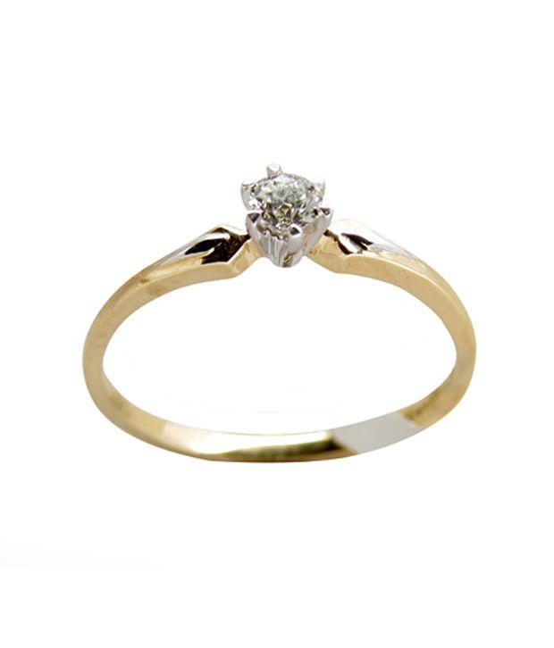 Trinity Diamond Studded Gold Ring