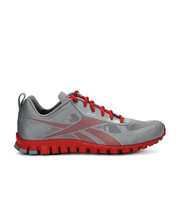 the best attitude 88afc 6fa9c ... Reebok Men Grey Realflex Breeze Sports Shoes ...