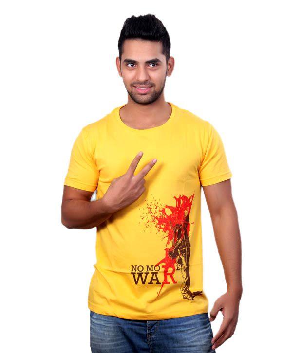 50000volts Yellow T-Shirt- No more war
