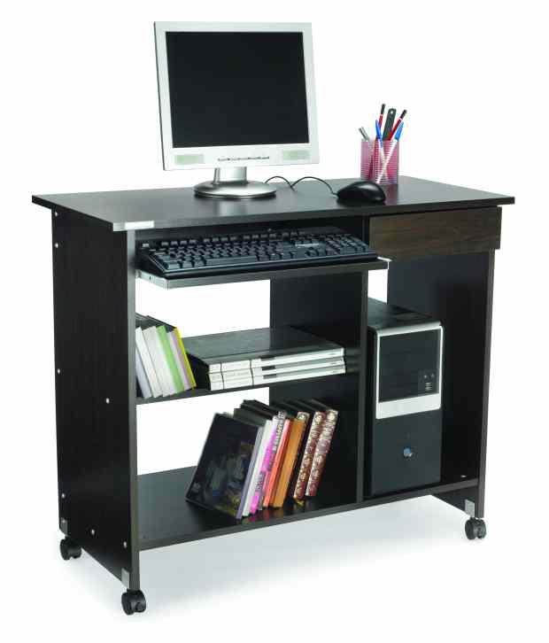Nilkamal Computer Table Spacio Black Wallnut