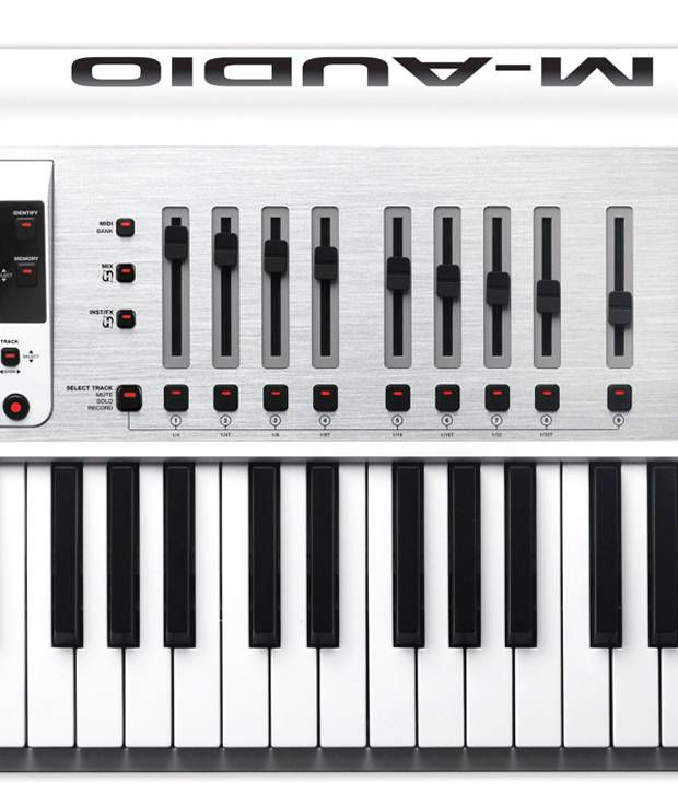 M-AUDIO-AXIOM-AIR-61 61-key USB MIDI Controller with Semi-weighted Keys, 29  Knobs/Faders/Pads, Dedicated Transport Controls, HyperControl Mapping, and