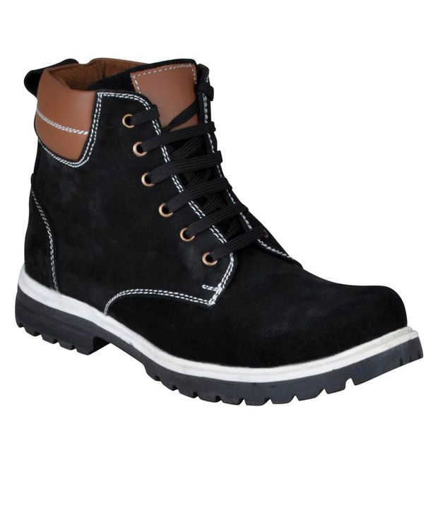 HM Black High Ankle Length Boots