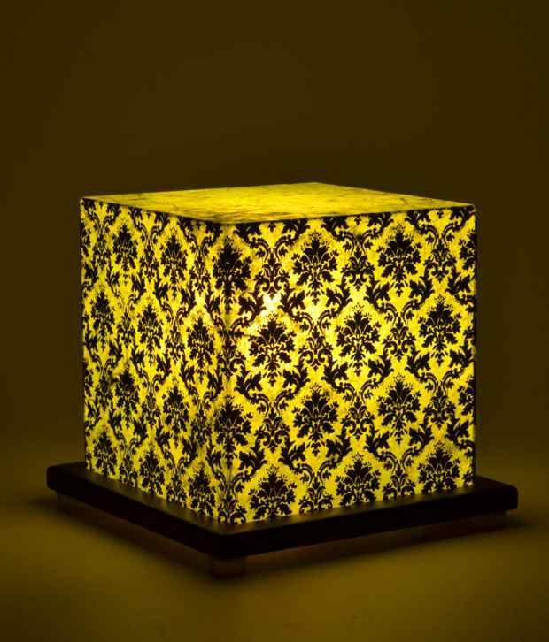 Shady Ideas Paisley Passion Small Green Acrylic Table Lamp
