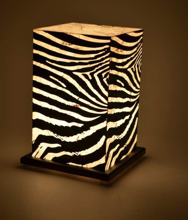 Shady Ideas Z For Zebra Table Lamp