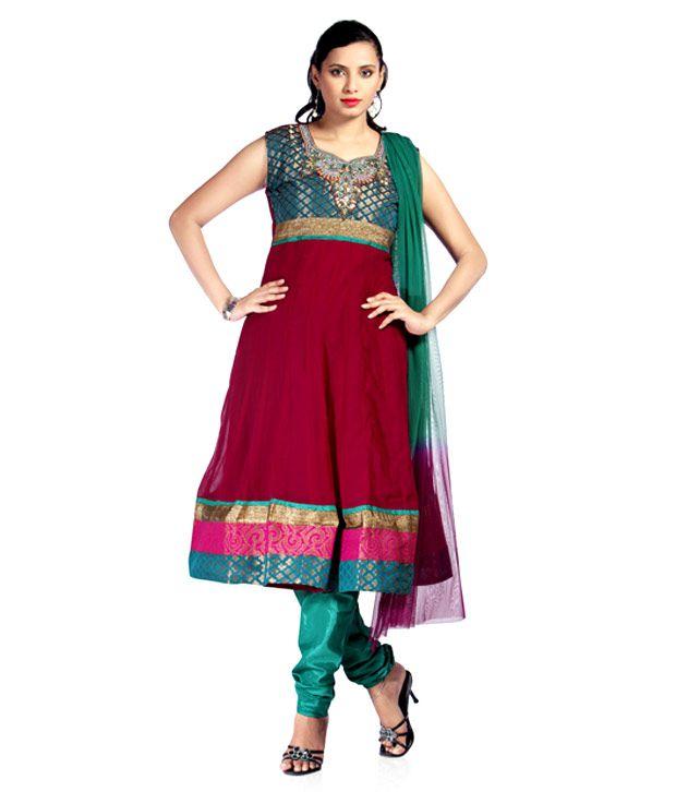 Idha Brown Anarkali Stitched Salwar Suit