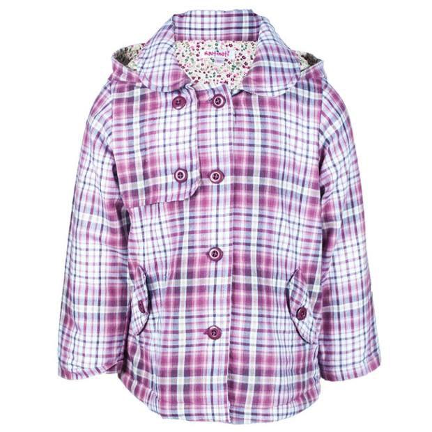 Nauti Nati Purple/White 100% Cotton Jacket For Kids