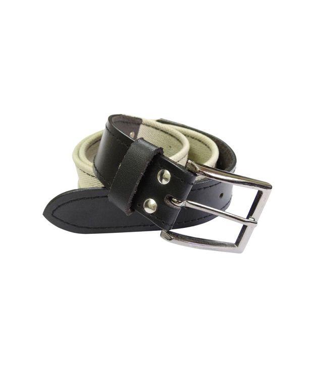 Revo Casual Canvas Belt (Black & White)