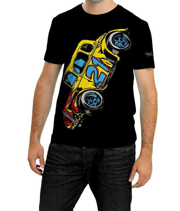 Grasshopr Car Design T-Shirt- Black