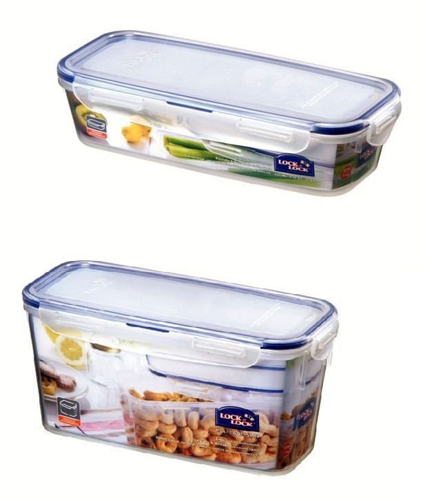 Lock & Lock Slender Plastic  Container - Set of 2 -Set Of 2