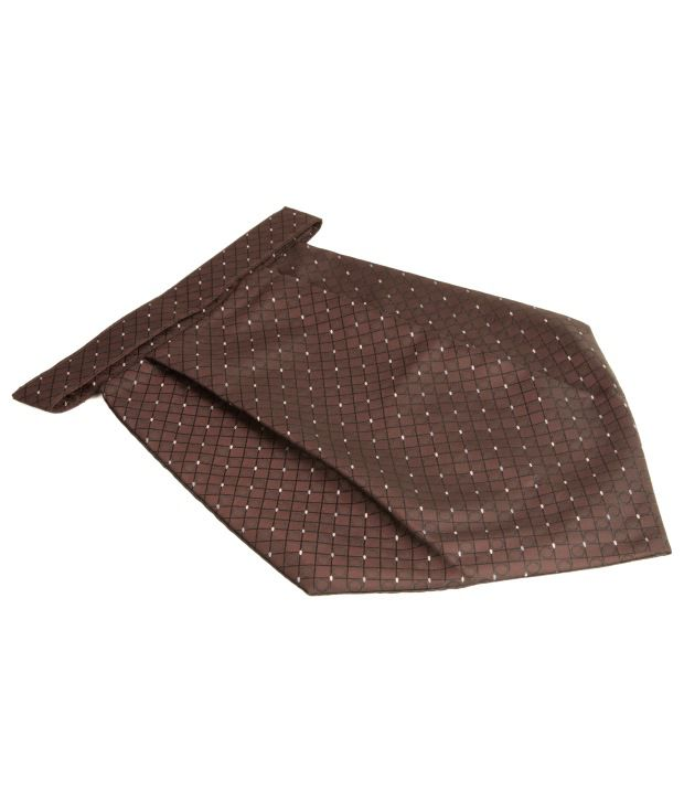 The Vatican Lively Brown Cravat With Motifs