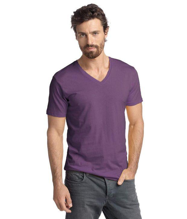 BTR Purple V-Neck T Shirt