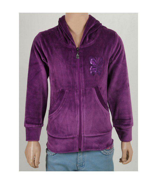 Purple Nasty Red Sweatshirt For Kids