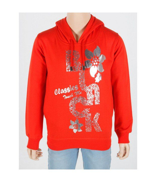 Touch Me Orange Sweatshirt For Kids