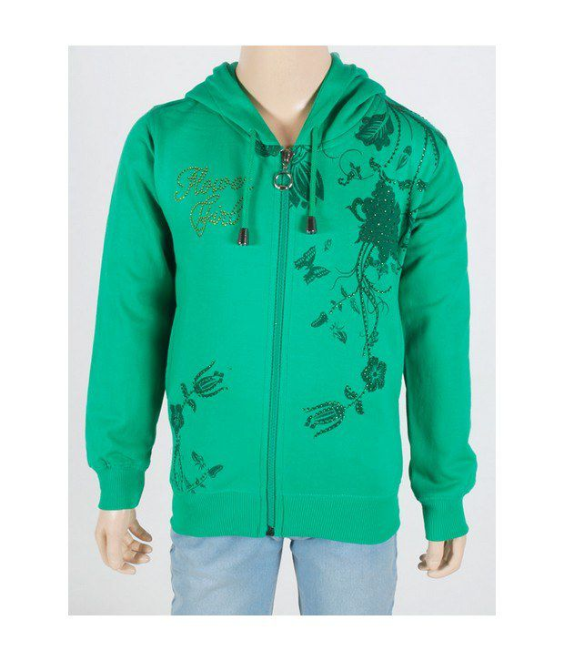 Touch Me Green Sweatshirt For Kids
