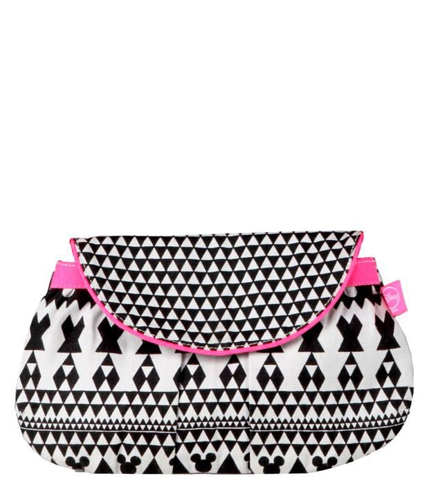 Be For Bag Aztec Mickey Gray Clutch Bag
