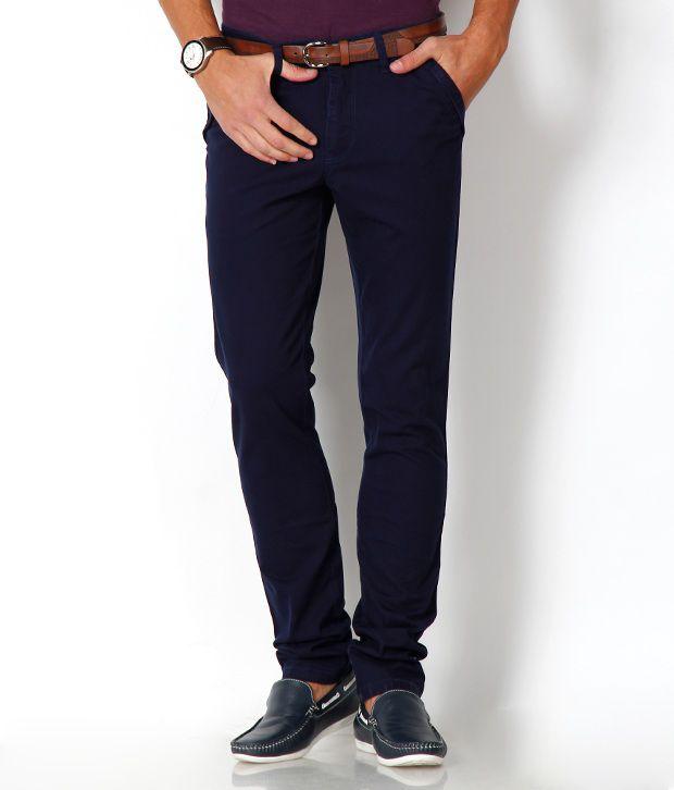 Urban Navy Blue Slim Fit Chinos