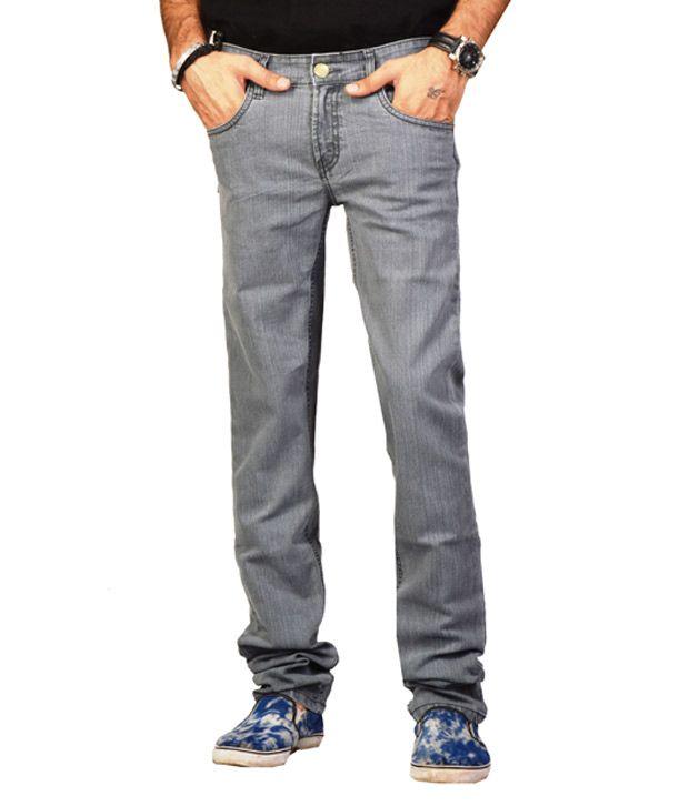 Fungus Grey Comfort Fit Denim Jeans