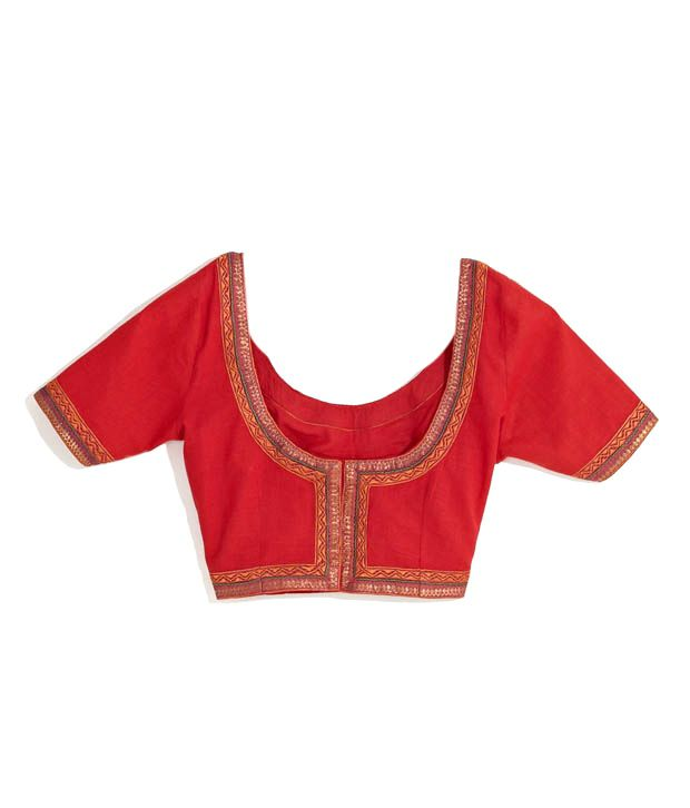 8f12a49ac3 Fabindia Red Cotton Semi-Stitched Blouse - Buy Fabindia Red Cotton Semi-Stitched  Blouse Online at Low Price - Snapdeal.com