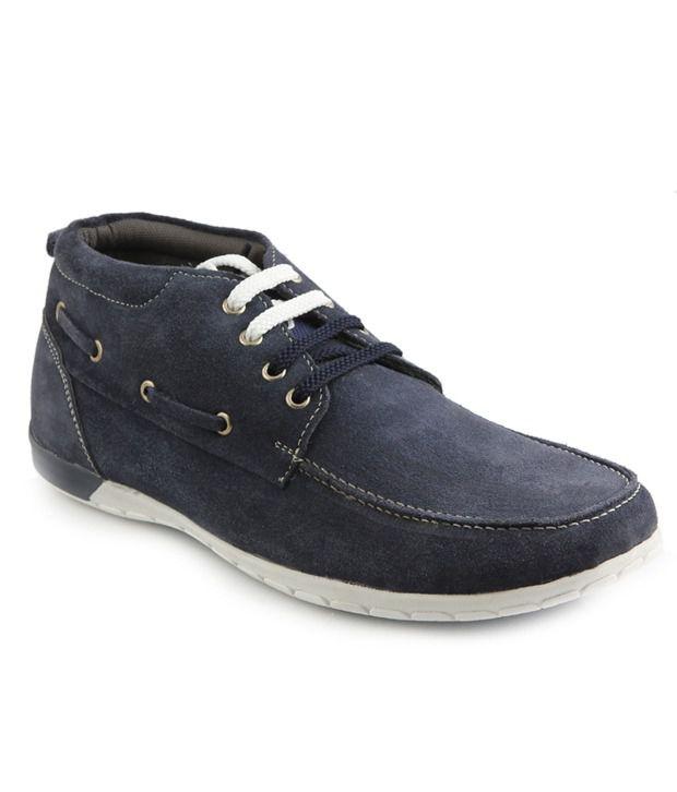 Numero Uno Impressive Navy Blue Casual Shoes