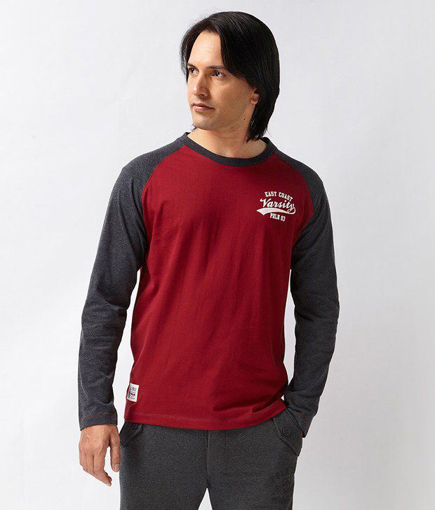 Proline Red Full Sleeves T Shirt
