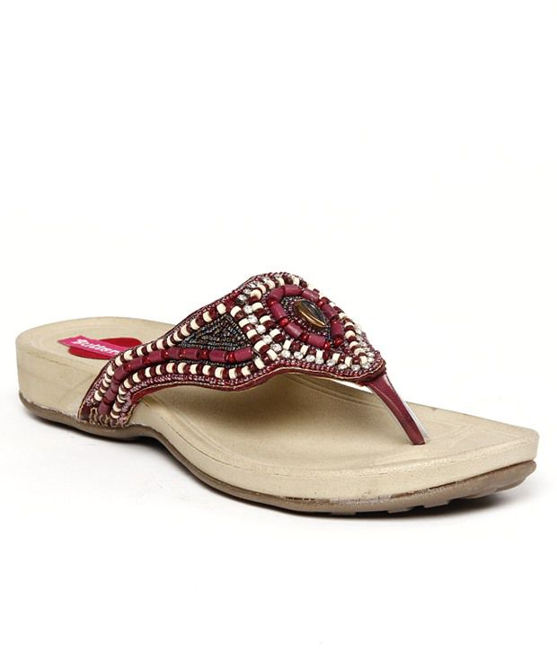 Butterfly Beaded Cherry Flats