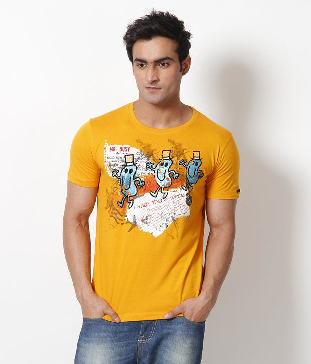 Status Quo Yellow T Shirt