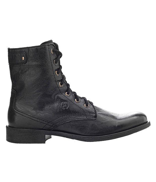Alberto Torresi Classy Black High Ankle Length Boots