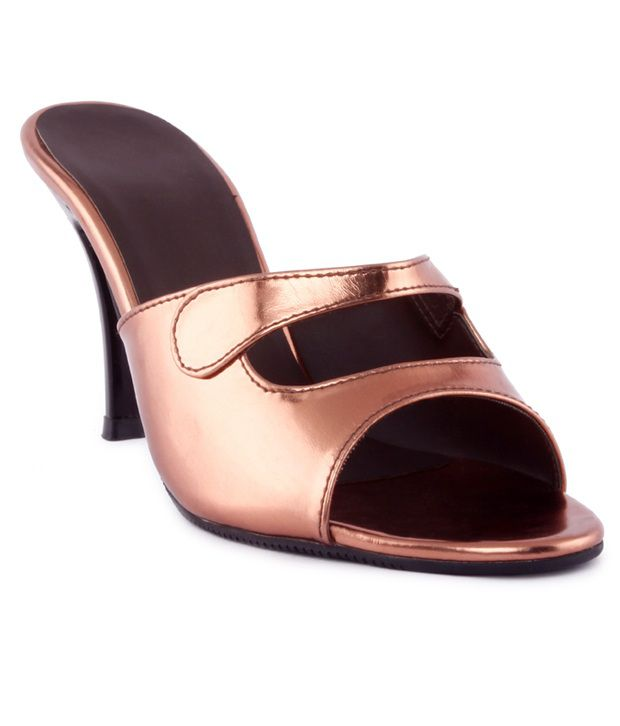 Kielz Party Wear Copper Slip-on Heels