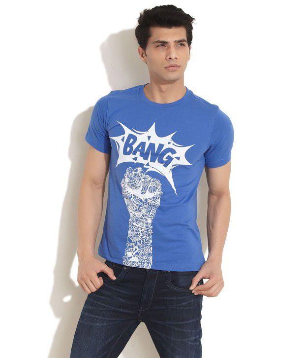 Dillinger Blue Bang Crew Neck T-Shirt