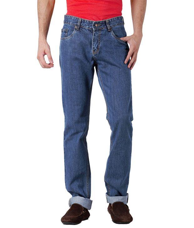 US Rugby Blue Stretch Regular Fit Mens Jeans 202