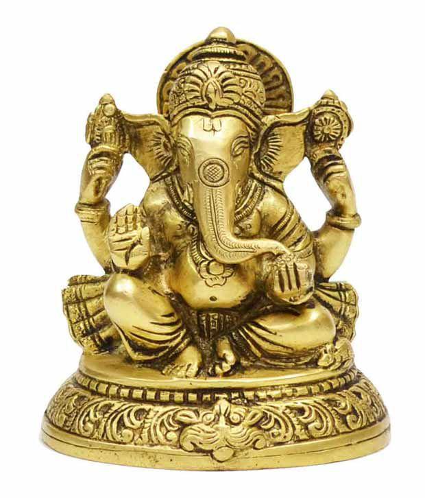 Indian Arts Shop Sitting Ganesha Idol
