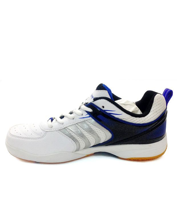 Carlton White & Blue Badminton Shoes