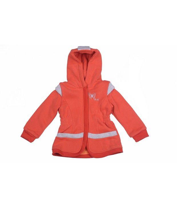 Isabelle Orange Winter Wear Sweatshirt For Kids