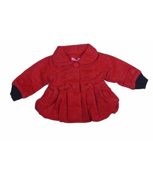 Isabelle Red Winter Wear Jacket For Kids