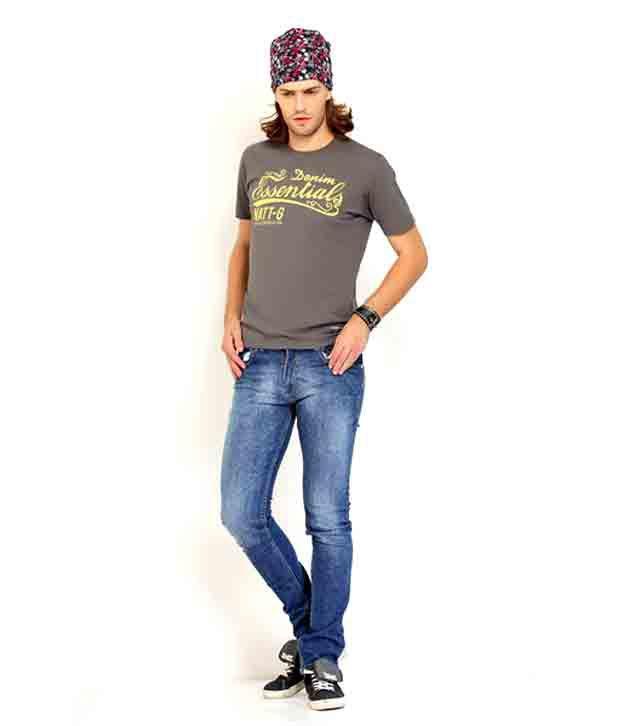 Nattg Dark Blue Slim Fit Jeans